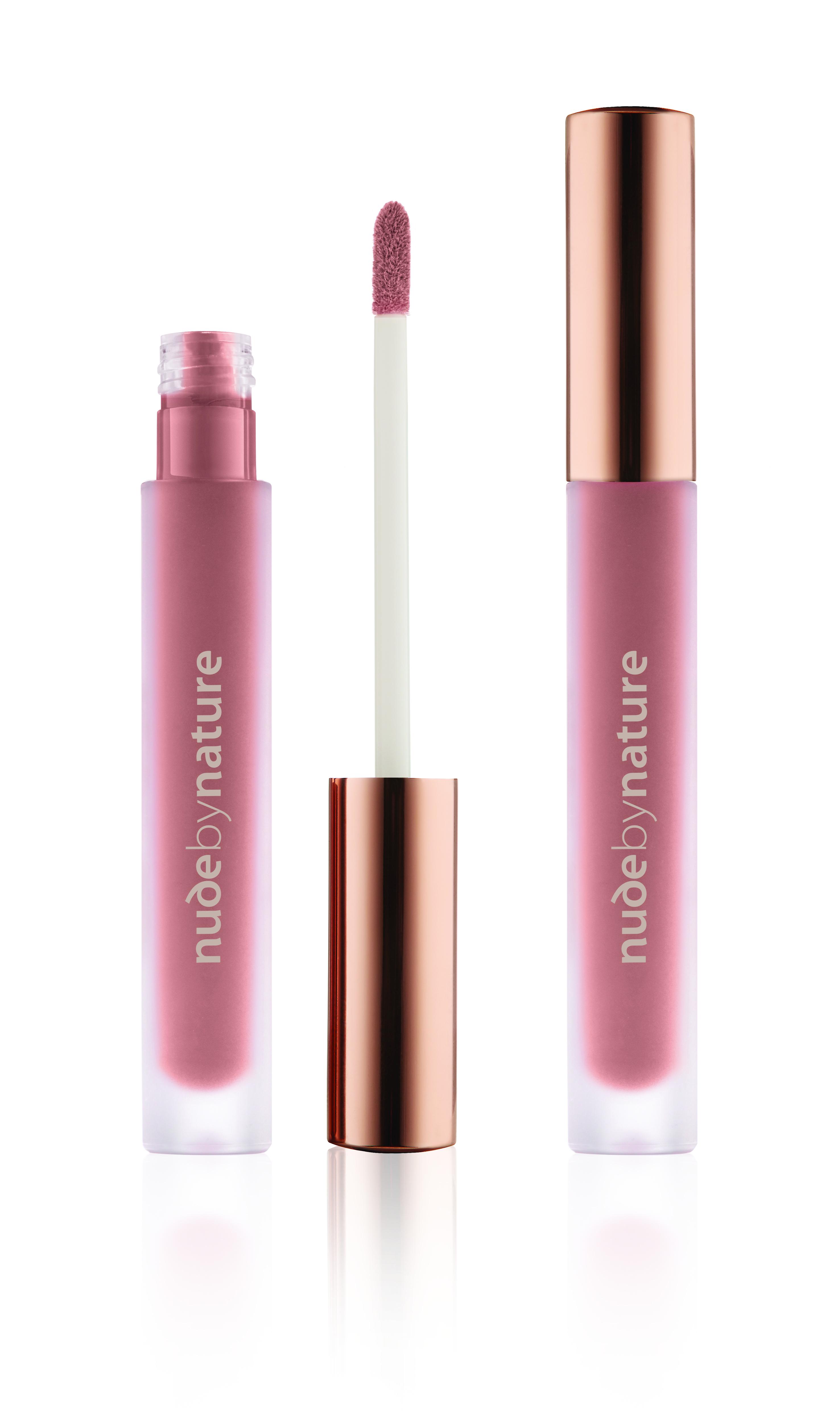 Nude by Nature - Satin Liquid Lipstick - 01 Sand