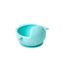 Rice - Silikone Baby Skål m. Sugekop - Baby Blue