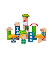 BRIO - 25 Patterned wooden blocks (30112)