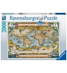 Ravensburger - Puzzle 2000 - Around the World (10216825)