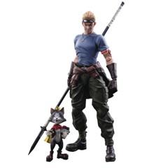 Final Fantasy VII Advent Children Play Arts Kai - CID Highwind & Cait Sith