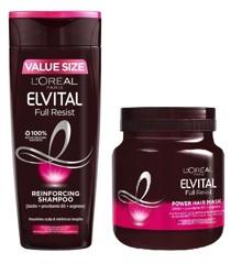L'Oréal - Elvital Full Resist Shampoo 500 ml + Hair Mask 680 ml