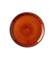 BITZ - 2 x Gastro Tallerken Dia. 17 x 2,0 cm - Sort/ Orange