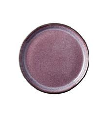 BITZ - 2 x Gastro Plate Dia. 17 x 2,0 cm - Black/ Purple