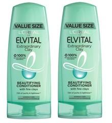 L'Oréal - 2 x Elvital Clay Conditioner 400 ml