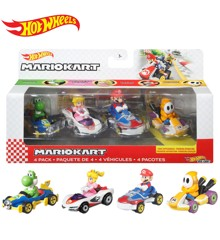 Hot Wheels - Mario Kart 4 Pack Asst. (GWB36)