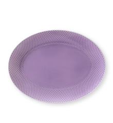 Lyngby Porcelæn - Rhombe Oval Serving Dish 35x26,5cm - Purple (201950)