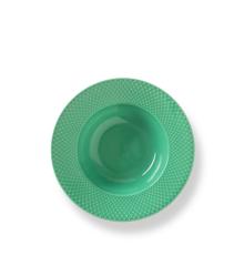 Lyngby Porcelæn - Rhombe Color Pasta Plate 24,5 cm - Green (201940)
