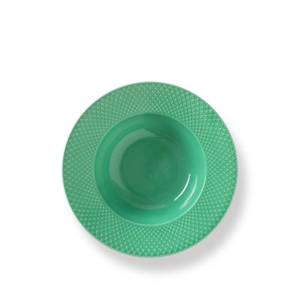 Lyngby Porcelæn - Rhombe Color Pasta Plate Dia. 24,5cm - Green (201940)