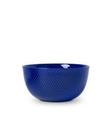 Lyngby Porcelæn - Rhombe Color Serveringsskål Dia. 22cm - Mørkeblå