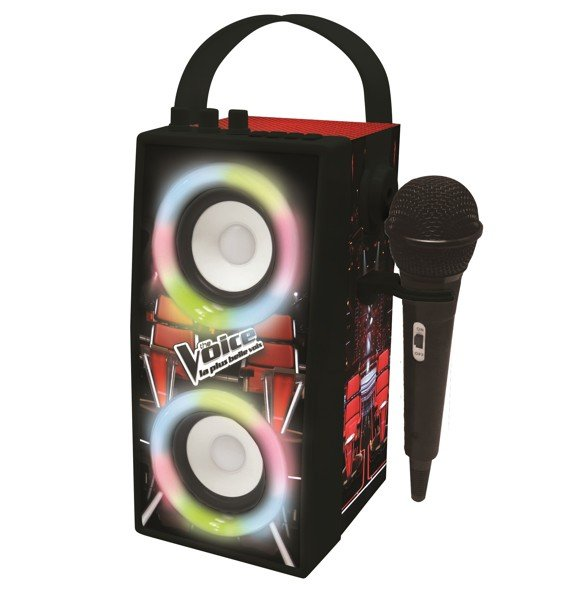 Lexibook - The Voice Trendy Portable Bluetooth® Speaker with mic and amazing lights effects (BTP180TVZ)