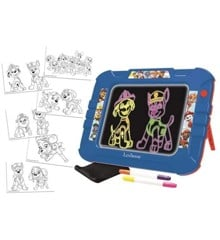 Lexibook - Paw Patrol Neon Luminous Drawing Board with pens and templates (CRNEOPA)