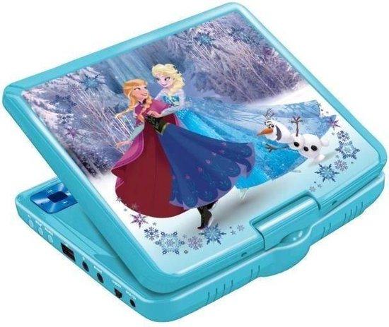 """Billede af Lexibook - Disney Frost bærbar DVD-afspiller 7 """"roterende skærm med USB-port og høretelefoner"""