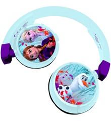 Lexibook - 2 i 1 Bluetooth og kabelførbare komfortable hovedtelefoner med sikkert volumen til børn - Disney Frost