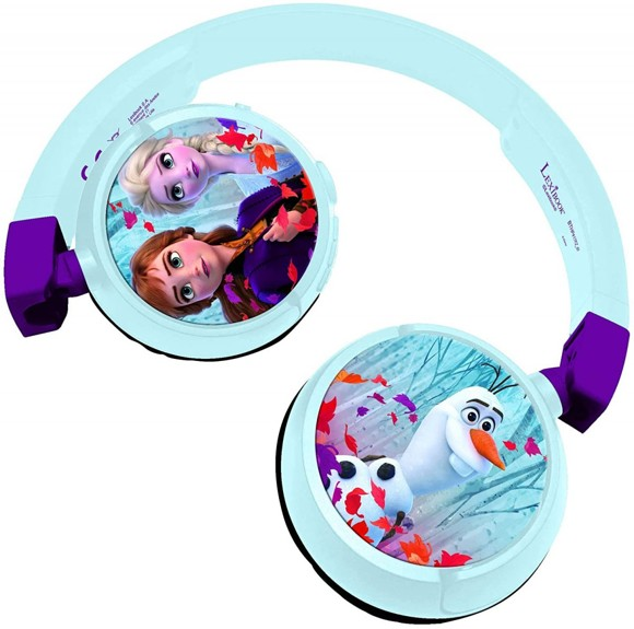 Lexibook - 2 in 1 Bluetooth and Wired comfort foldable Headphones with kids safe volume Frozen design (HPBT010FZ)