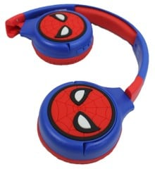Lexibook - 2 in 1 Bluetooth and Wired comfort foldable Headphones with kids safe volume - Spider-Man (HPBT010SP)