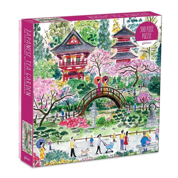 Mudpuppy - Puzzle  300 pc - Japanese Tea Garden by Michael Storring (062697)