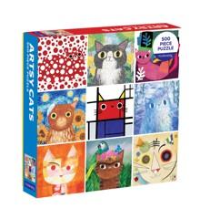Mudpuppy - Puzzle 500 pc - Artsy Cats (061072)