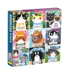 Mudpuppy - Puzzle 500 pc - Bookish Cats (064905)