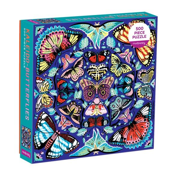 Mudpuppy - Puzzle 500 pcs - Kaleido-Butterflies (062345)