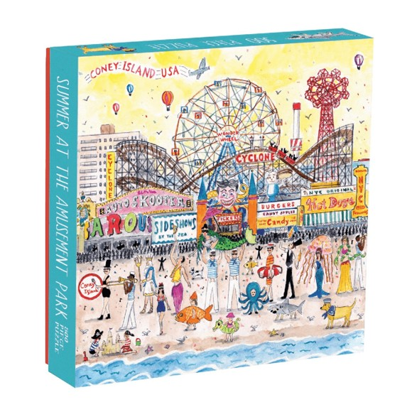 Mudpuppy - Puzzle 500 pcs - Summer At The Amusement Park by Michael Storring (043269)