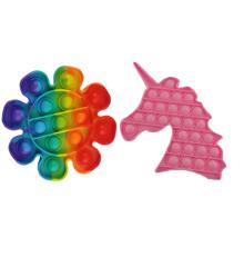 Plop Up! Fidget Game Figur - Enhjørning & Blomst