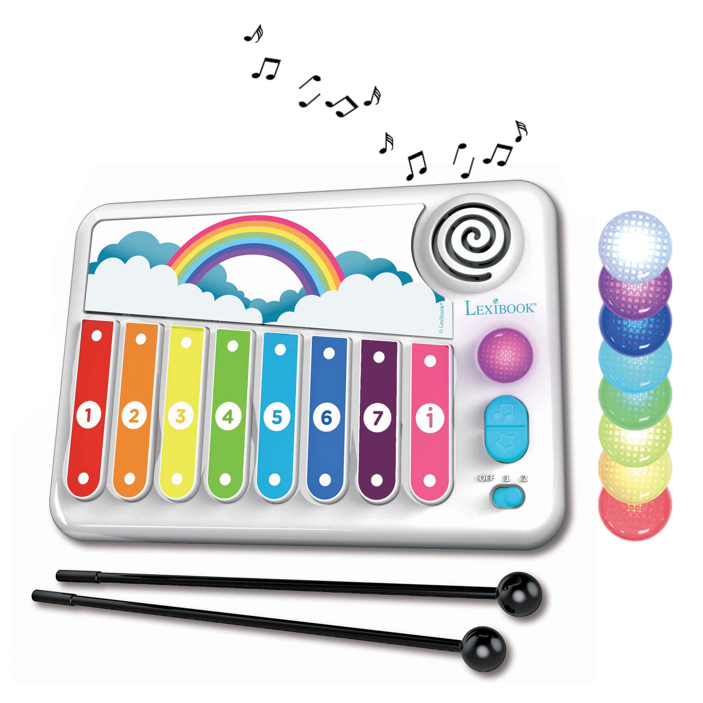 Lexibook - XYLO-FUN Electronic Xylophone with Learning Music method with Lights (K340)