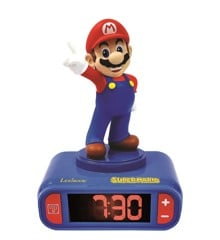 Lexibook - Super Mario Alarm Clock with Mario 3D character and sounds from the video game (RL800NI)