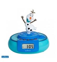 Lexibook - Disney Frozen Radio Alarm Clock with Olaf jumping character (RL985FZ)