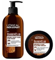 L'Oréal - Men Expert Barber Club Beard and Face Wash 200 ml + Styling Creme 50 ml