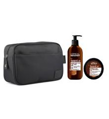 Vittorio -  Classic Wash Bag Men + L'Oréal - Men Expert Barber Club Beard and Face Wash 200 ml & Styling Creme 50 ml