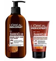 L'Oréal - Men Expert Barber Club Beard and Face Wash 200 ml + Exfoliating Beard & Face Scrub 100 ml