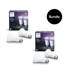 Philips Hue - E27 2 Pack -  White & Color Ambiance - Bluetooth - Bundle