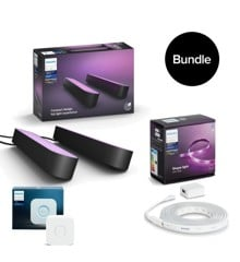 Philips Hue - Play Light Bar 2-Pack & Lightstrip Plus Starter Kit  2 meter & Bridge 2.1 - Bundle