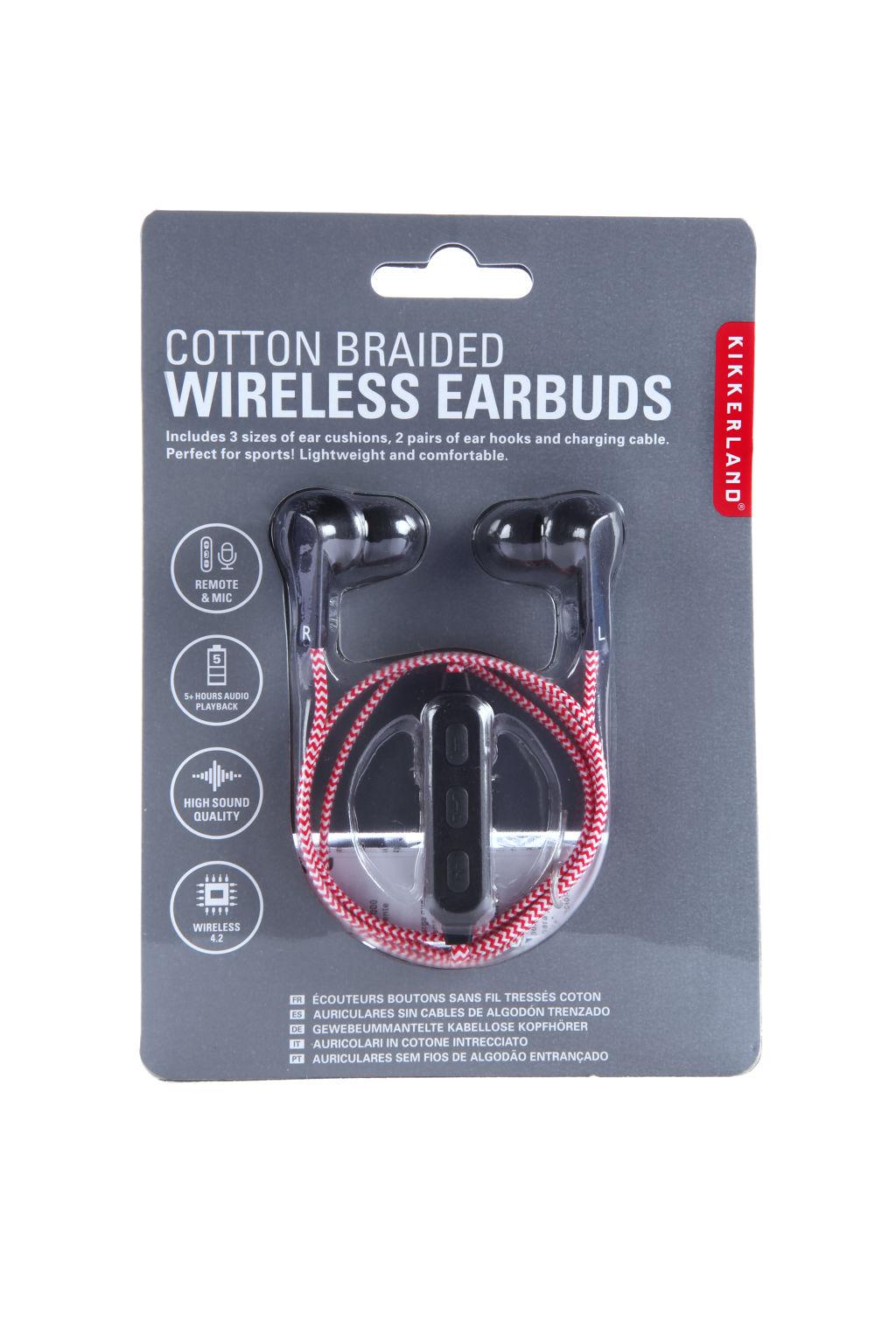 Billede af Trådløse Høretelefoner - Rødt stof
