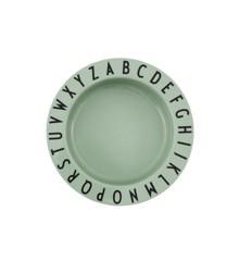 Design Letters - Eat & Learn Dyb Tallerken - Grøn