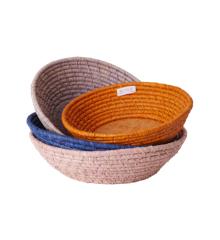 Rice - Raffia Round Bread Baskets