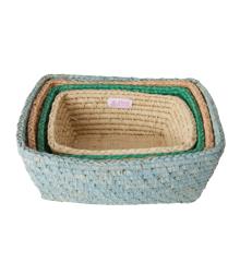 Rice - Rectangular Bread Basket Set of 4 - Follow The Call of The Disco Ball