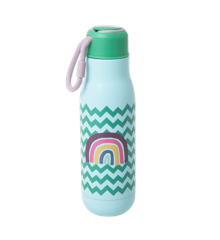 Rice - Stainless Steel Thermo Drinking Bottle 500 ml - Zig Zag and Rainbow Print