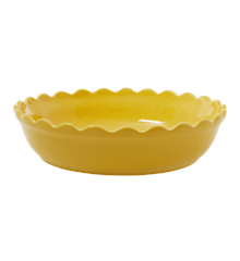 Rice - Stoneware Pie Dish - Yellow L