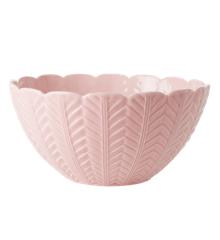 Rice - Ceramic Salad Bowl w. Embossed Details - Pink