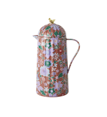 Rice - Thermo w. Gold Bird Lid - Brown Fall Floral Print