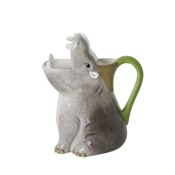 Rice - Ceramic Vase - Hippo Shape