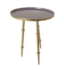 Rice - Round Metal Side Table - Lavender