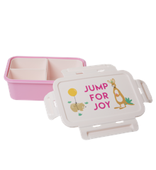 Rice - Lunchbox w. 3 Inserts - Pink Party Animal Print