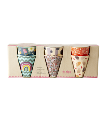 Rice - 6 Pcs Small Melamine Kids Cups - Follow The Call of The Disco Ball' Prints