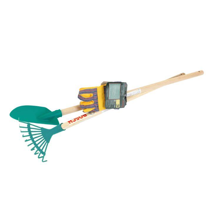 Klein – Bosch – Havesæt til børn med rive, spade og havehandsker