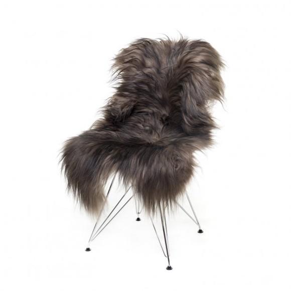 AVALON By Copenhagen - Long Hair Sheep Sheepskin - Nougat/Black (TH0110148)