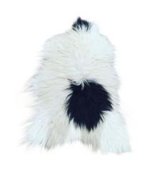 Long Hair Sheep Sheepskin - White/Black Spot (TH0011035)