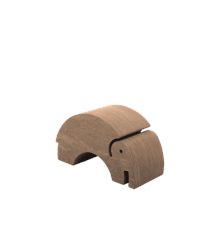 bObles - Medium Elephant - Marble Nature - Mud